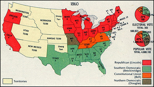 Map of the 1860 Presidential Election