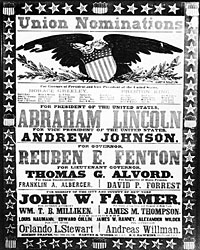 Poster from Lincoln's 1864 campaign in New York