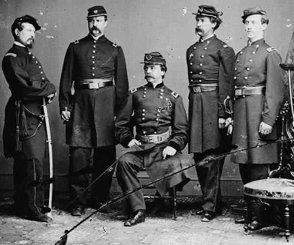 Gen. Daniel Sickles and Staff