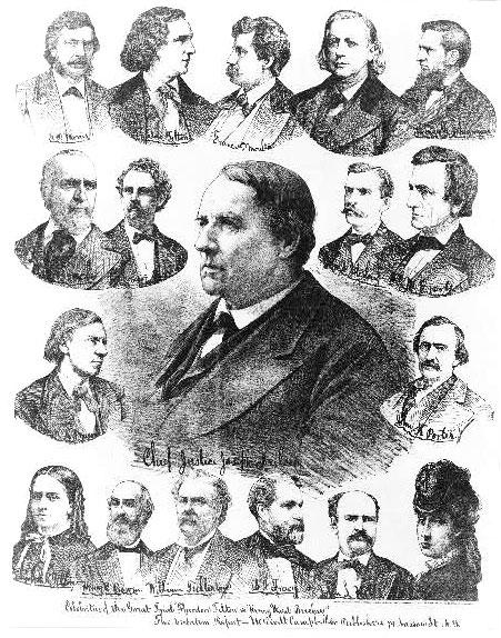 Celebrities of the trial 'Theodore Tilton vs Henry Ward Beecher'