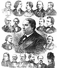 Celebrities of the trial 'Theodore Tilton vs Henry Ward Beecher'