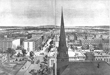 New York City and environs, from the spire of Dr. Spring's new brick church
