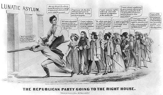 The Republican Party going to the right House