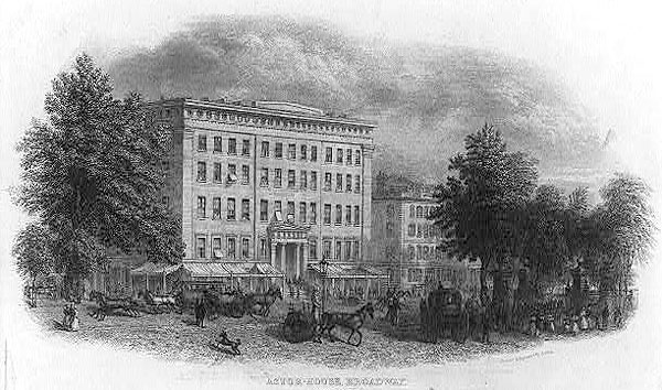 Astor-house Broadway, New York Print