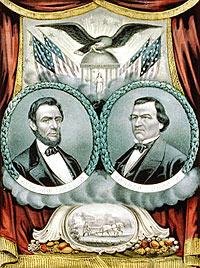 Grand national union banner for 1864. Liberty, Union, and Victory
