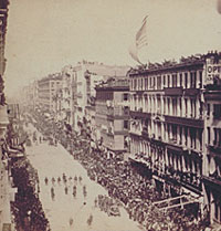 Lincoln's Funeral Procession, New York, April 25th, 1865