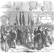 The Friends of the 7th and 8th Regiments, NY Volunteers Welcoming the Return of their Heroes to New York, Tuesday April 28, 1863