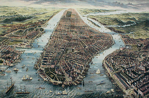 Aerial View of New York 1867