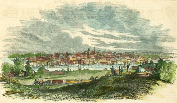 View of Albany NY from Greenbush