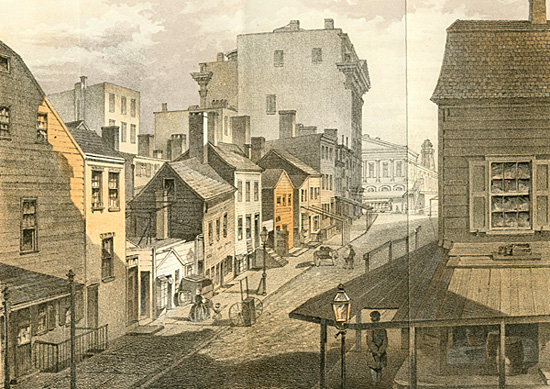 View of Baxter (late Orange St.) betw. Hester & Grand St. 1861