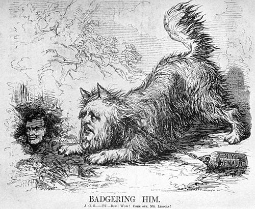 James Gordon Bennett Badgering Abraham Lincoln