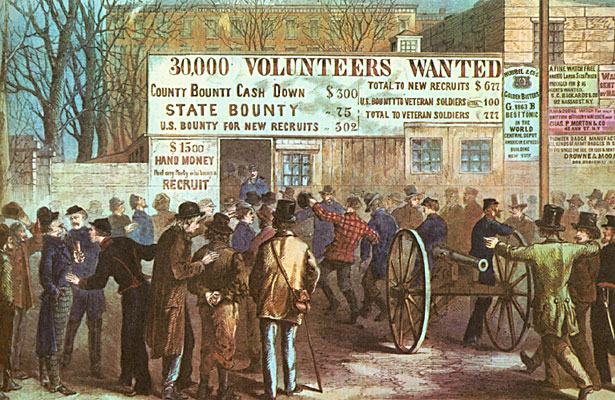 Recruitment of Soldiers in New York City