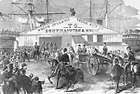Union Soldiers heading south from Collins Line Dock, Canal Street New York