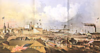 Panorama of the Embarkation of the Fire Zouaves on Board the Baltic April 29th 1861
