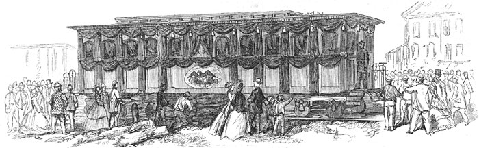 View of the Funeral Car Containing the Remains of President Lincoln