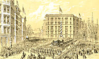 Procession Passing Fifth Avenue Hotel