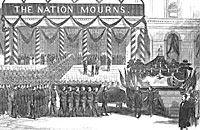 President Lincoln's Funeral - Removal of the Body from the City Hall to the Funeral Car, New York, April 25, 1865