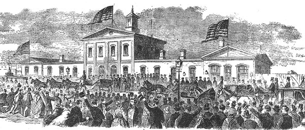 Lincoln's Arrival in New York