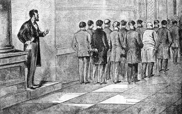 New York Millionaires who wanted Lincoln to send them a gun-boat