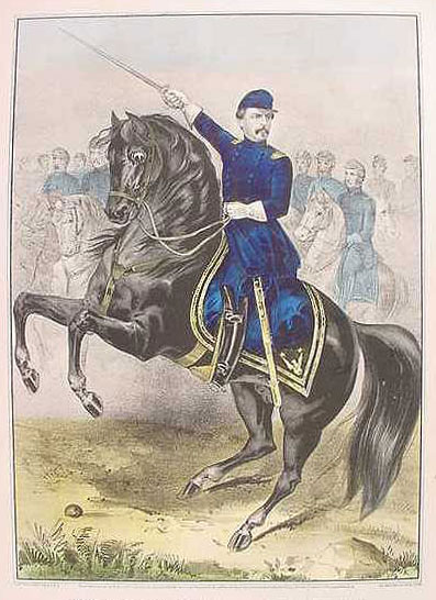 Majr. Genl. George B. Mc.Clellan, At The Battle Of Antietam, Ms. Sept. 17th. 1862