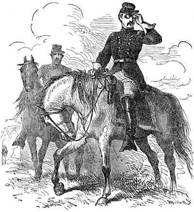 General George McClellan on the Field