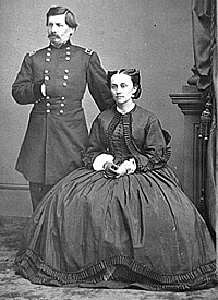 Major General George B. McClellan and his wife, Ellen Mary Marcy