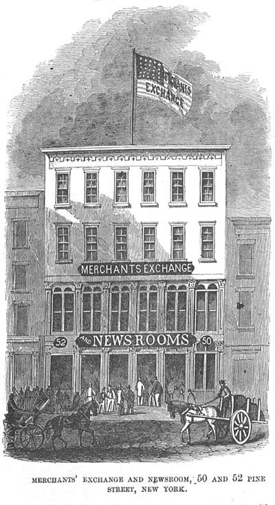 Merchants' Exchange and Newsroom, 50 and 52 Pine Street New York