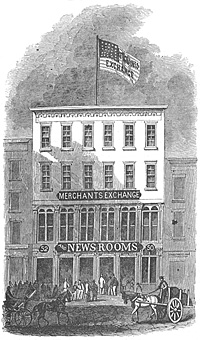 Merchants' Exchange and Newsroom, 50 and 52 Pine Street New York