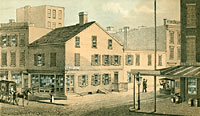 Old House, Corner of Houstin and Cannon Streets, 1864