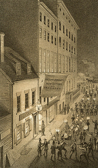 Pewter Mug Tavern & Tammany Hall, Frankfort St. 1860