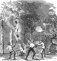 Rioters Lynching a Black Man