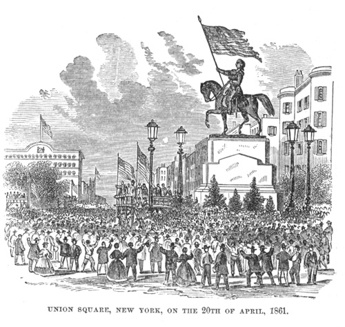 Union Square, New York, on April 20, 1861