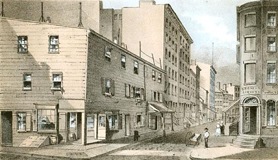 Vandewater Street Corner of Frankfort Street