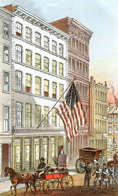 View of the NY State Soldier's Depot, 50 & 52 Howard St.