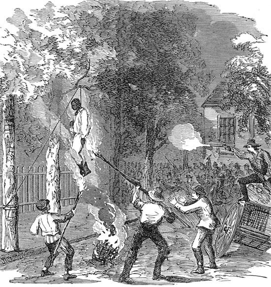 Rioters Lynching a Black Man