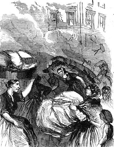 Women Pillaging During Riots